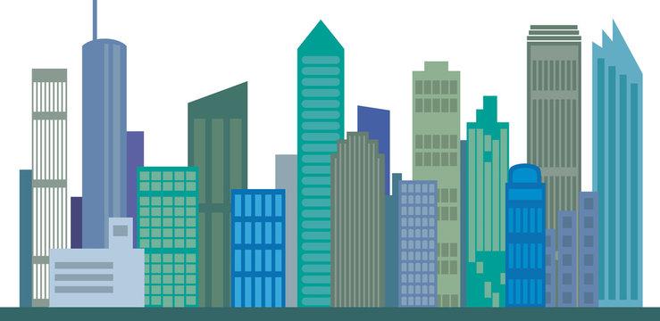 Skyline Großstadt, Vektor