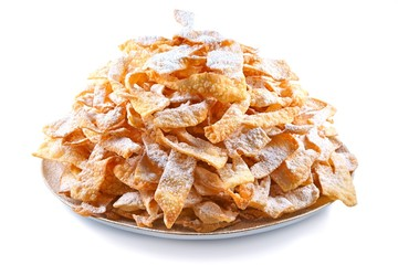 Angel wings (Faworki), cakes deep-fried in oil to Fat Thursday