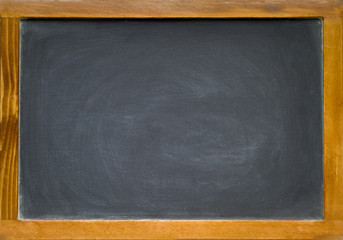 a blank chalkboard in a multi coloured frame buy this stock photo