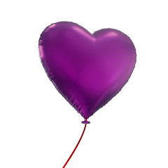 Valentine's day heart balloon, 3d object isolated