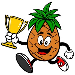 Pineapple Running with Trophy