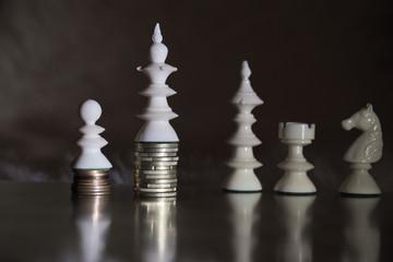 Schachspiel mit dem Euro - Geldspiele/ Schachmatt
