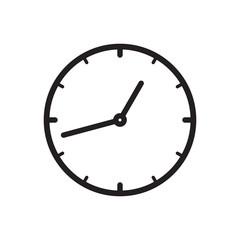 Black icon of Clock