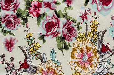 Flower print fabric
