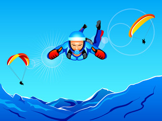 Sky-diving and paragliding