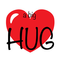 a big hug love or friendship