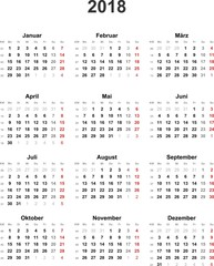Search photos kalender 2018 kalender 2018 universal ohne feiertage stopboris Image collections