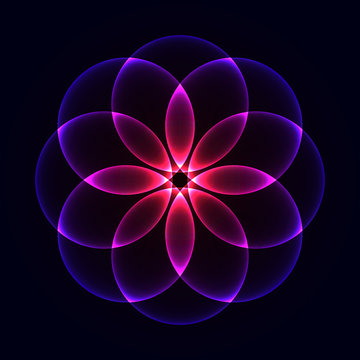 Glowing Geometrical Ornament