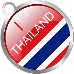 Thailand keychain flag