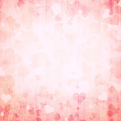 Grunge red abstract heart background