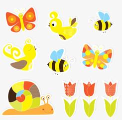 spring nature set- vectors for children