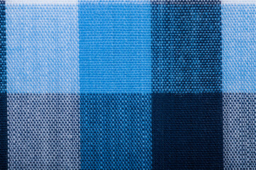 Blue wool fabric texture with a cell
