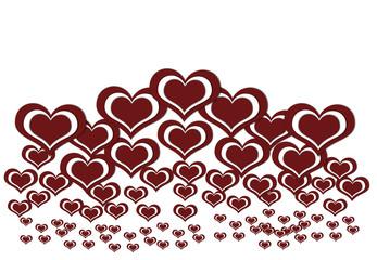 Heart valentine's day background