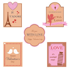 Vector collection of valentines day design