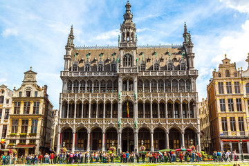 The Grand Place in Brussels Papier Peint