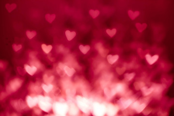 Abstract Valentine's day background with red hearts. Colorful So