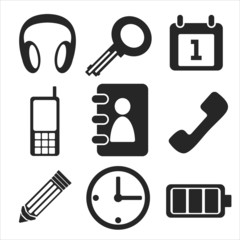 Interface web and mobile icons collection. Vector.