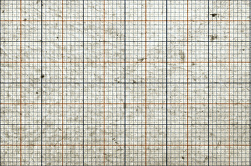 Blank, grungy graph paper