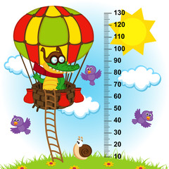 balloon height measure(in original proportions 1 to 4)