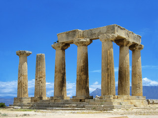 the columns in Greece
