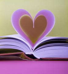 Walentynkowe serce i książka