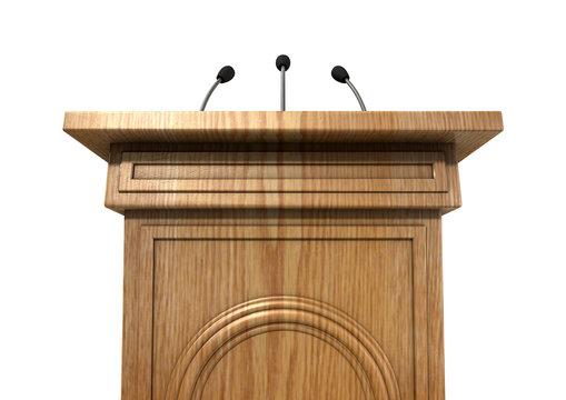 Press Conference Podium