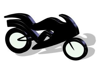 Fototapete - 3D Motorrad Tribal