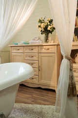 Interior images of bathroom in classic style