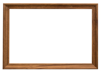wood frame with clipping path on isolated white