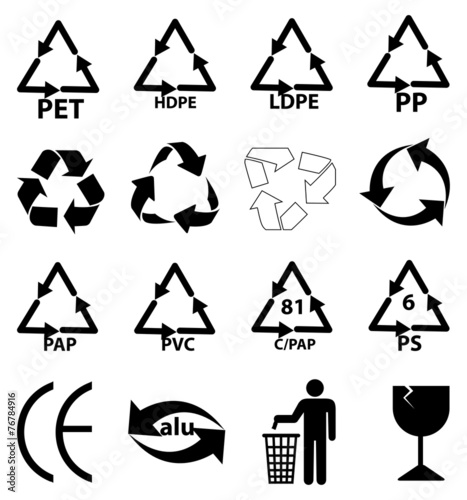 Recycle Packaging Icons Set Stock Image And Royalty Free Vector