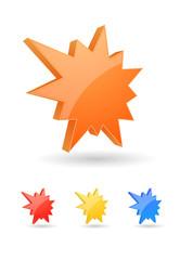 starburst splash icon 3d