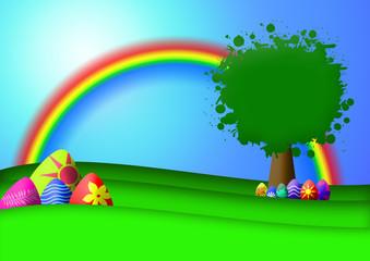 Door stickers Rainbow Ostern - Easter