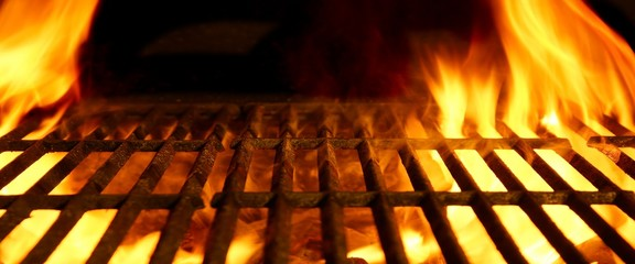 Photo sur Aluminium Grill, Barbecue BBQ or Barbecue or Barbeque or Bar-B-Q Charcoal Fire Grill