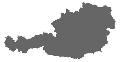 Österreich in Grau Fototapete