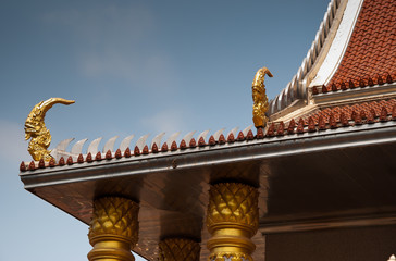 art of roof design in Thai temple
