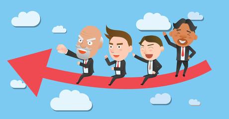 Business corporation teamwork concept flat character