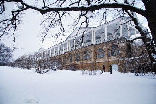 Камеронова Галерея зимой, Царское село