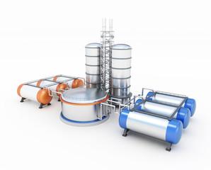 3d model of oil factory