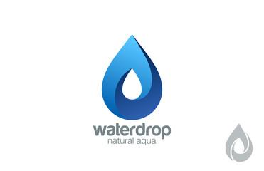 Logo Water drop abstract design. Waterdrop Logotype