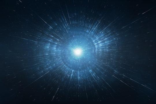 Starburst space travel background