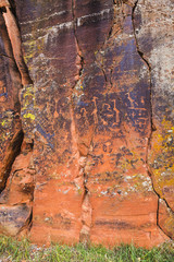 Rock Panel with North American Petroglyphs