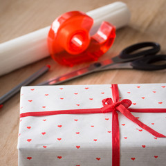 Simple Gift Wrapping for St. Valentine's Day