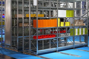 Mobile shelves storage