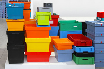 Fototapeta Plastic crates obraz