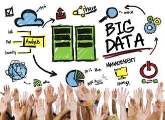 Diversity Hands Big Data Support Teamwork Togetherness Concept
