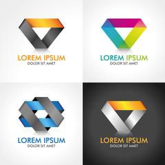 Logo Design 3d Abstrakt Business