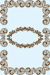 Frame victorian style