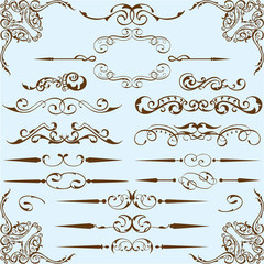 Victorian style setVictorian style set