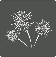 Fireworks sign icon.
