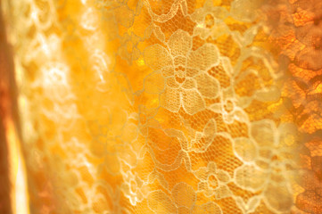 A lace curtain